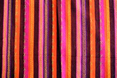 Blanket with latin american color pattern. Blanket with latin american color stripe pattern Royalty Free Stock Photo