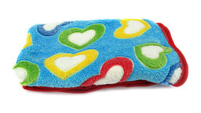 Blanket for love full of coloful hearts Royalty Free Stock Image