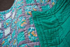 Blanket made of fabric rags 3019. Stock Photos