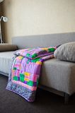 Blanket made of fabric rags 3021. Royalty Free Stock Photos