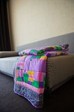 Blanket made of fabric rags 3022. Stock Photos