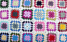 Blanket made of granny squares Royalty Free Stock Image