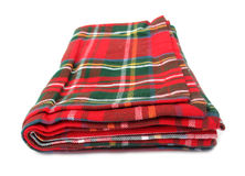 Blanket red and green Stock Photos