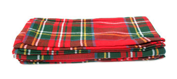 Blanket red and green Royalty Free Stock Images