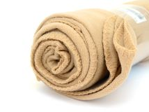 Blanket roll. A camping blanket roll on decorating Stock Photo