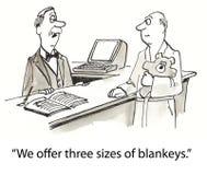 Blanket sizes Stock Photo