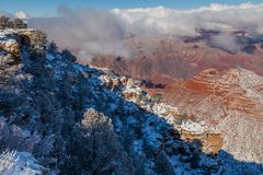 Grand Canyon South Rim in Winter Stock Image