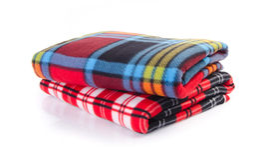 Free Blanket, Soft Warm Blanket On Background Royalty Free Stock Image - 29633296