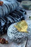 blanket szkocką kratę Fotografia Stock