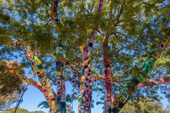Blanket Tree Bright Colors Stock Image