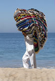Blanket Vendor on a Mexican beach Stock Photos