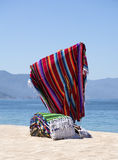 Blanket Vendor Puerto Vallarta Mexico Royalty Free Stock Photo