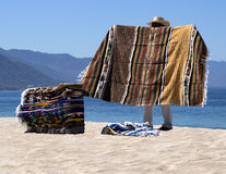 Blanket Vendor Puerto Vallarta Mexico Stock Photography