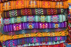 Blankets 2. Blankets for sale in a native american market in chiapas, mexico Royalty Free Stock Photo