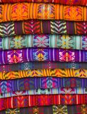 Blankets. Native American Blankets in a market in chiapas, mexico royalty free stock photo