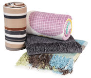 Blankets. Isolated. Royalty Free Stock Photography