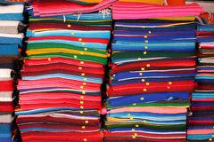 Blankets For Sale. At a rodeside shop in mexico Stock Image