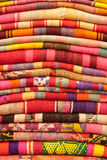 Blankets for Sale in Sagarnaga street, La Paz, Bolivia Stock Photos