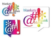 Blankety Blank. Symbolize profanity using blankety blank blank in speech bubble Stock Photo