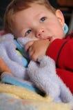Blankie Snuggling Imagem de Stock Royalty Free