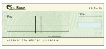 blankocheckillustration Arkivbild