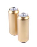 Blanks aluminum and golden soda cans Royalty Free Stock Photography