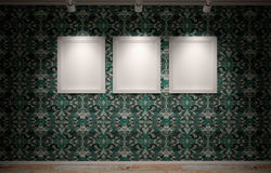Blanks frames on the wall Stock Photography