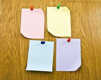 Blanks notes papers attached Royalty Free Stock Photography