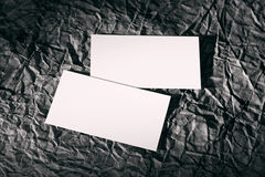 Blanks white cards on a black. Background design paper, identity design, corporate templates, company style Royalty Free Stock Photos