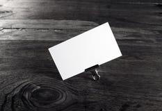 blankt affärskort Fotografering för Bildbyråer