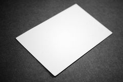 blankt affärskort Royaltyfria Foton
