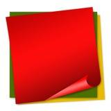blankt anmärkningspapper Arkivbilder
