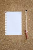 blankt anteckningsbokark Royaltyfria Foton