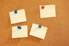 blankt ark för brädeinformationspapper Royaltyfria Foton