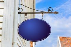 blankt blått tecken Fotografering för Bildbyråer