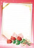 blankt blom- prydnadpapper Royaltyfria Bilder