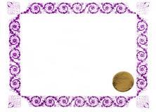 blankt certifikat Royaltyfria Bilder