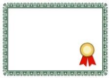 blankt certifikat Arkivbild