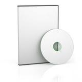 Blankt DVD-fall Arkivfoto