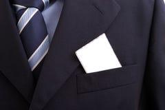 blankt fack för affärsaffärsmankort Fotografering för Bildbyråer