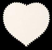 blankt formad stämpel för hjärta porto Royaltyfria Foton