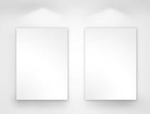 blankt galleri för konst vektor illustrationer