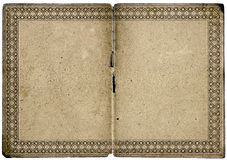 blankt gammalt kantcertifikat Arkivbilder