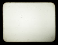 blankt gammalt kort för projektorskärmglidbana Royaltyfria Bilder