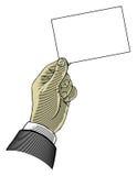 blankt handholdingpapper Royaltyfria Bilder