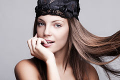 Blankt hår Arkivbild