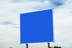 blankt huvudvägtecken Royaltyfri Bild