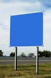 blankt huvudvägtecken Arkivfoto
