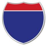 blankt interstate tecken Arkivbild