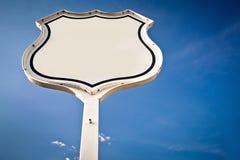 blankt interstate vägmärke fotografering för bildbyråer